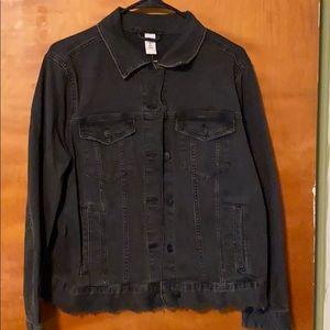 H&M+ black denim jacket